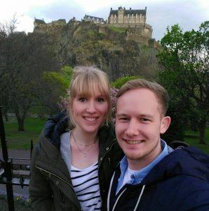 Edinburgh Castle mit Julia und Kristian