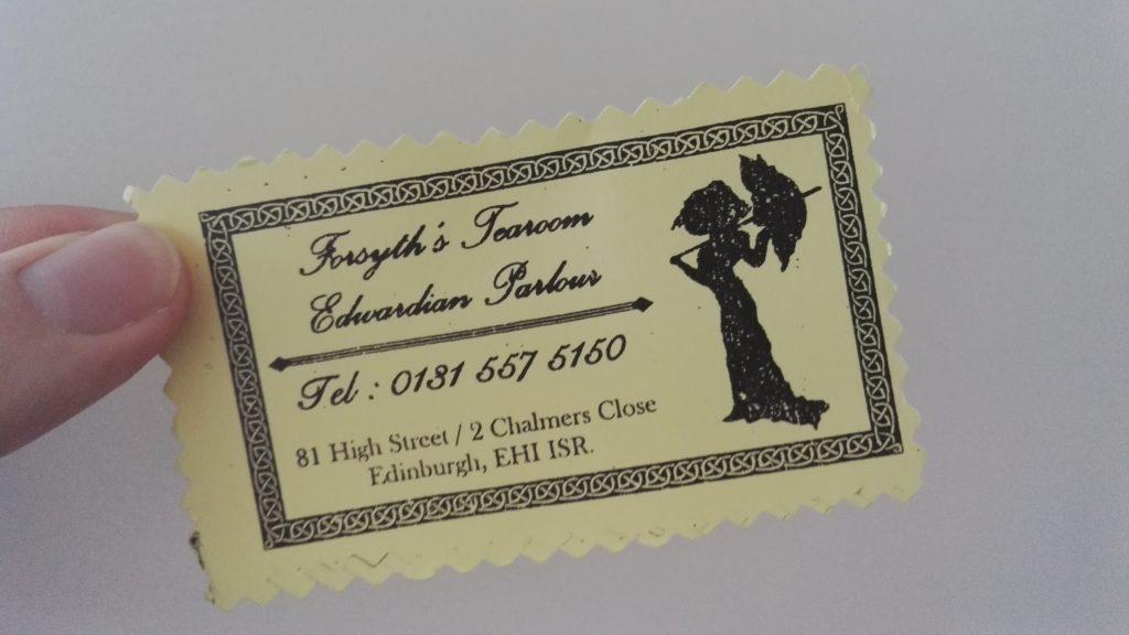Tearoom Visitenkarte