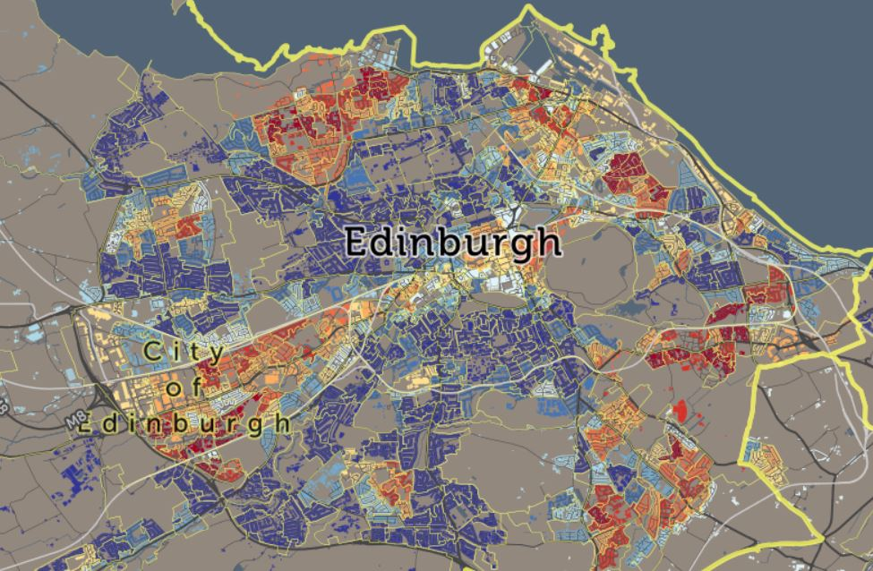 Wohnungssuche mit dem Scottish Index of Multiple Deprivation